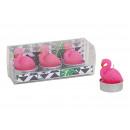 Tealight set Flamingo (4x5x4cm) made of wax Pink 3