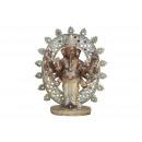 Ganesha in poli marrone (L / A / P) 24x28x11cm