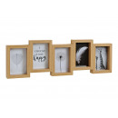 Großhandel Bilder & Rahmen: Fotorahmen für 5 x (10x15cm) Fotos aus Holz, Glas