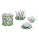 Teiera set con la tazza + piastra (fiori) da Porze