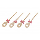 wholesale Kitchen Gadgets: Cooking spoon with bow made of wood nature