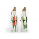 bottiglia di vetro decorativo con tulipani arte, 3