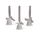 Bell sospesi in ceramica bianca, assortito, 5