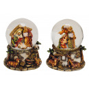 wholesale Snow Globes: Music box / assorted globe Crib made of poly, ...