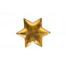 piatti argilla, vetrata oro, a forma di stella, 19