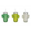Cactus di vetro con tappo di paglia di vetro, 350