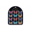wholesale Gifts & Stationery: Magnet butterfly on blackboard, 6-f