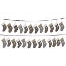 ghirlanda dell'Avvento con calze in tessuto, 2