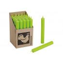 nagyker Gyertyák és gyertyatartók: Stabkerze Szín: alma zöld (B / H / T) 2x18x2cm