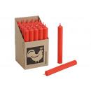 colore Stabkerze: rosso (B / H / T) 2x18x2cm