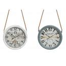 Großhandel Uhren & Wecker: Wanduhr Vintage, 2-fach sortiert, B8 x T30