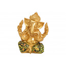 Ganesha made of poly gold (W / H / D) 13x17x11cm