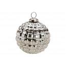 Szklany świąteczny cacko srebrny (B / H / D) 10x11
