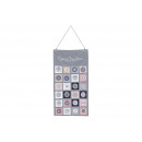 wholesale Home & Living: Textile Gray Advent Calendar, Pink (B / H) 43x82c