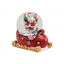 Snow globe Santa Claus on sled base