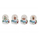 Snow Globe Nicholas, Snowman, Glass Moose, P