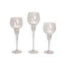 Lantern Set Chalice Cracking clear 30, 35, 40cm x