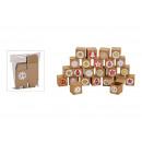 Advent calendar set folding box 5x5x5cm paper / p