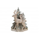 Cervi nella foresta invernale in poly grey con gli
