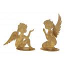 Angelo in metallo dorato con glitter 2 volte assor