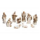 Set Presepe Porcellana Beige Set di 10, 4