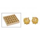 Agyag arany (B / H / D) 4x3x3cm