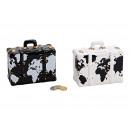 Money Box Suitcase Dove andare? ceramica nera