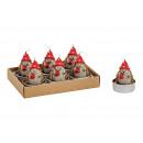 Tealight Set Hedgehog, 4x5x4cm Marrone Set di 6