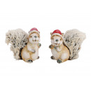 Christmas squirrel clay, plush brown 2-fac