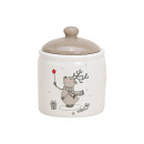Tin Elk Decor Ceramic White (B / H / D) 8x10x8cm,