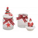 Latta con Babbo Natale in ceramica, copertura per