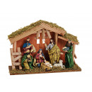 Presepe in Poly, Wood Color (B / H / D) 30x21x10c