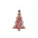 Adventskalender Tannenbaum aus Jute, Textil Bunt (