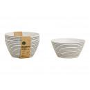 Shell Set Stripes Decor di fibra di bambù nero