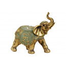 Elefante Poly Gold (B / H / D) 21x20x10cm