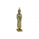 wholesale Stockings & Socks: Buddha standing on poly gold pedestal (B / H / D)