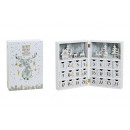 wholesale Decoration: Advent calendar book made of white wood (B / H / D