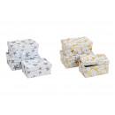 Set da boxe stelle carta / cartone oro, argento, 2