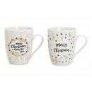 Mug sayings Merry Christmas porcelain white
