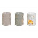 Lampada di fragranza in ceramica beige, bianco, gr