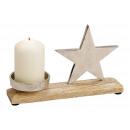 Portacandele in metallo, decorazioni stella in leg