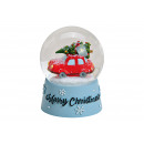Snowglobe Christmas Car Merry Christmas from Pol