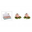 mayorista Artículos de regalo: Cerdo con corona en fieltro trébol palo a palo
