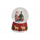 Carillon, globo di neve, Babbo Natale sul motivo d