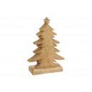 Albero di Natale in legno di mango marrone (B / H