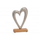 Großhandel Home & Living: Herz aus Metall/Mango Holz Silber, braun ...