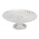 Piastra torta modello diamante vetro trasparente (