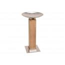 Pilastro in legno di mango con guscio in alluminio