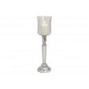groothandel Bloemenpotten & vazen: Kandelaar, glazen vaas Silver, Clear (B / H / D) 1