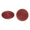 Set di placche di 2 perle di vetro rotonde rosse,